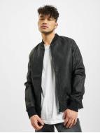 Urban Classics Chaqueta de cuero Imitation Leather Raglan negro