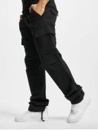 Urban Classics Chino bukser Camouflage svart