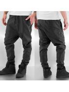Urban Classics Chinot/Kangashousut Deep Crotch Leather Imitation musta