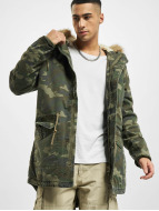 Urban Classics Coats Garment Washed Camo camouflage