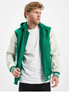 Urban Classics College Jacke Hooded Oldschool College grün