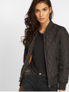 Urban Classics College Jacket Diamond Quilt black