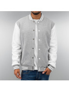 Urban Classics College Jacket 2-Tone College Sweatjacket gray