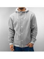 Urban Classics College Jacket Hooded gray