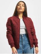 Urban Classics Collegetakit Diamond Quilt Nylon punainen
