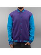 Urban Classics Collegetakit 2-Tone College Sweatjacket purpuranpunainen