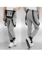 Urban Classics Dance joggingbroek Dungarees grijs