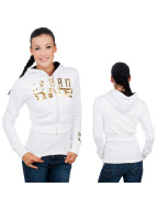 Urban Classics Dance Sweat à capuche zippé Urban White blanc