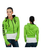 Urban Classics Dance Sweat à capuche zippé Arm Green vert