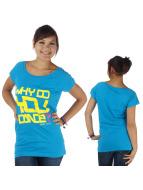Urban Classics Dance T-Shirt Dance Why Do You Dance Long blau