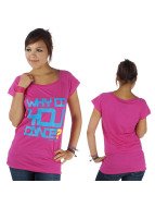 Urban Classics Dance T-Shirt Dance Why Do You Dance Long magenta