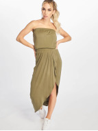 Urban Classics Dress Ladies Viscose Bandeau olive