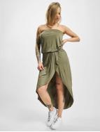 Urban Classics Elbiseler Ladies Viscose Bandeau zeytin yeşili