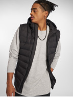 Urban Classics Gilet Small Bubble Hooded nero