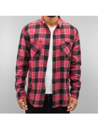 Urban Classics Hemd Checked Flanell 3 rot