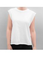 Urban Classics Hihattomat paidat Jersey Lace Up valkoinen