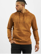 Urban Classics Hoodie Imitation Suede brown