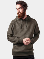 Urban Classics Hoodie Imitation Suede olive