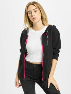 Urban Classics Hoodies con zip Ladies Bat 3/4 Sleeve nero