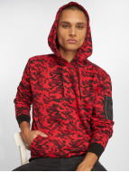 Urban Classics Hoodies Sweat Camo Bomber röd