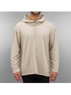 Urban Classics Hoody Long Slub Terry Open Edge beige