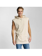 Urban Classics Hoody Open Edge Sleeveless beige