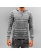 Urban Classics Hoody Striped Burnout grau