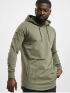 Urban Classics Hoody Long Shaped olijfgroen