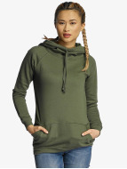 Urban Classics Hoody Ladies High Neck olive