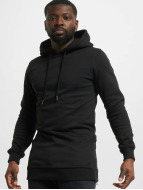 Urban Classics Hoody Long Side zwart