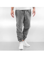 Urban Classics joggingbroek Washed Canvas grijs