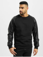 Urban Classics Jumper Raglan Leather Imitation black