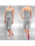 Urban Classics jumpsuit Shoulderfree Capri grijs