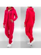 Urban Classics jumpsuit Sweat rood