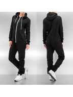 Urban Classics jumpsuit Sweat zwart
