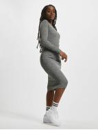 Urban Classics jurk Rib grijs