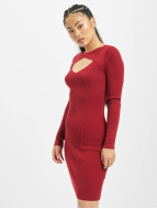 Urban Classics jurk Cut Out rood