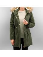 Urban Classics Kış ceketleri Ladies Sherpa Lined Peached zeytin yeşili