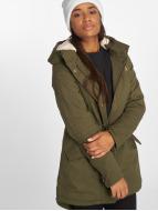 Urban Classics Kış ceketleri Ladies Sherpa Lined Cotton zeytin yeşili