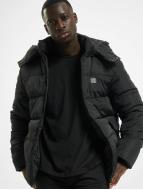 Urban Classics Kurtki zimowe Hooded Puffer czarny