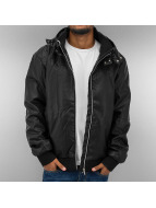 Urban Classics Leather Jacket Leather Imitation black