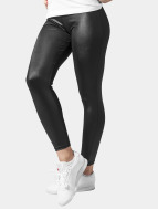 Urban Classics Legging Leather Imitation zwart
