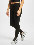 Urban Classics Legging Ladies Imitation Suede zwart
