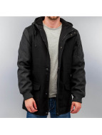 Urban Classics Lightweight Jacket Contrast Hooded Wool black