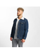 Urban Classics Lightweight Jacket Sherpa blue