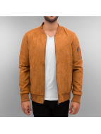 Urban Classics Lightweight Jacket Imitation Suede brown
