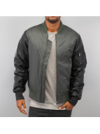 Urban Classics Lightweight Jacket Basic Bomber Leather Imitation olive
