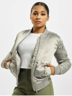 Urban Classics Lightweight Jacket Satin Bomber silver colored