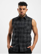 Urban Classics Liivit Sleeveless Checked Flanell musta