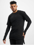 Urban Classics Longsleeve 2 in 1 Terry black